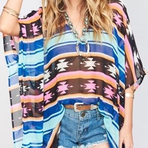 Show Me Your MuMu Aztec Print Peta Tunic Sz Small